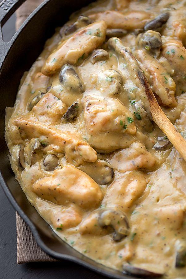 Creamy Chicken Stroganoff with Mushrooms