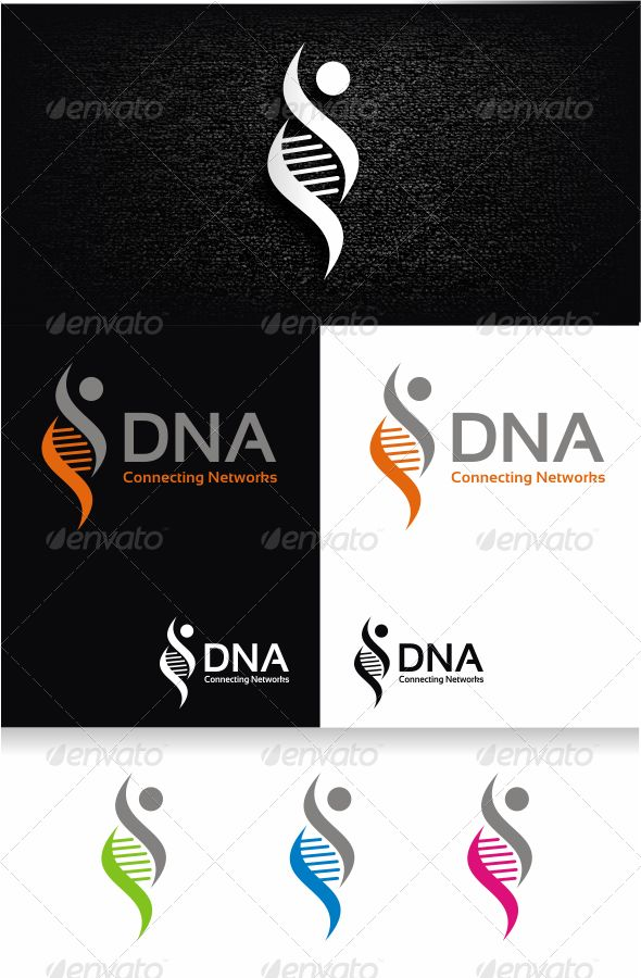 DNA Logo Template
