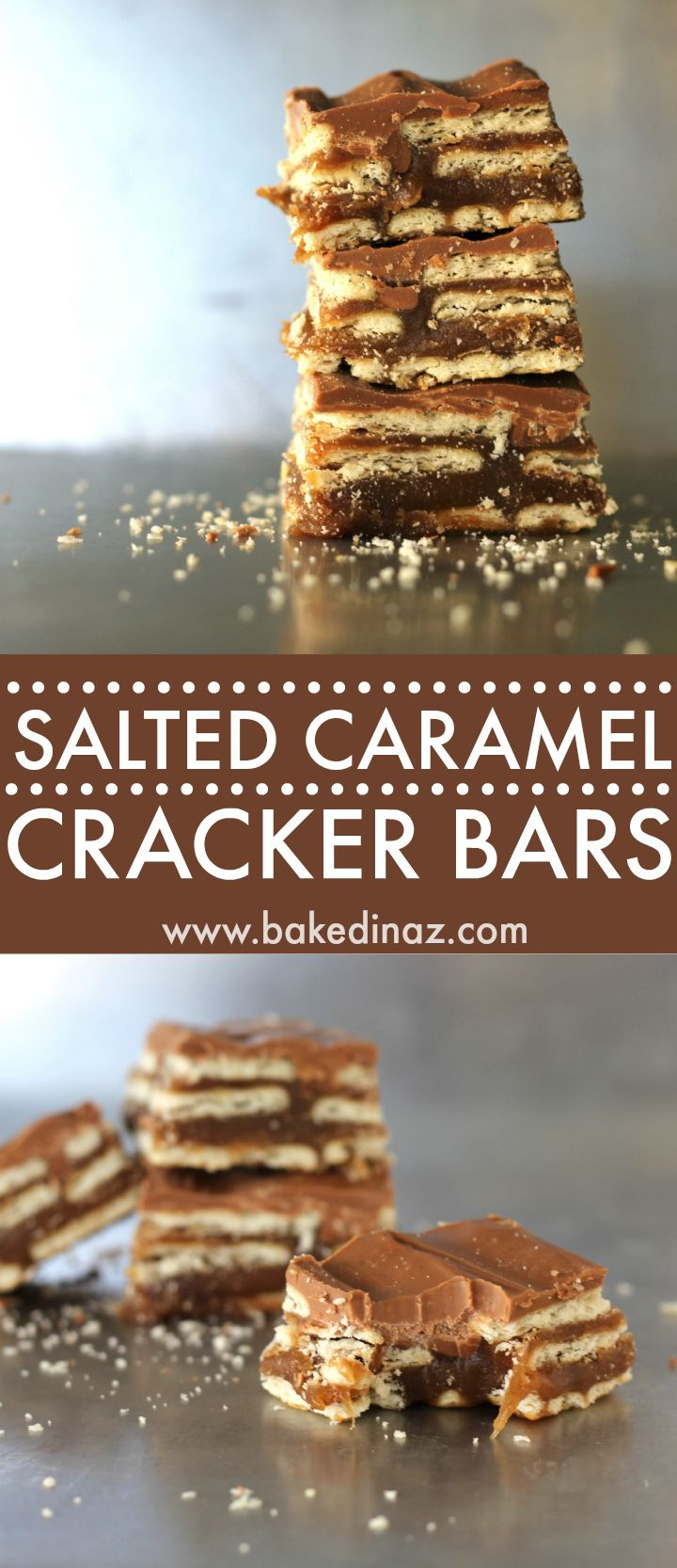 Salted Caramel Cracker Bar - made with club crackers, these taste just like the Salt River Bars at Liberty Market in Gilbert, AZ!