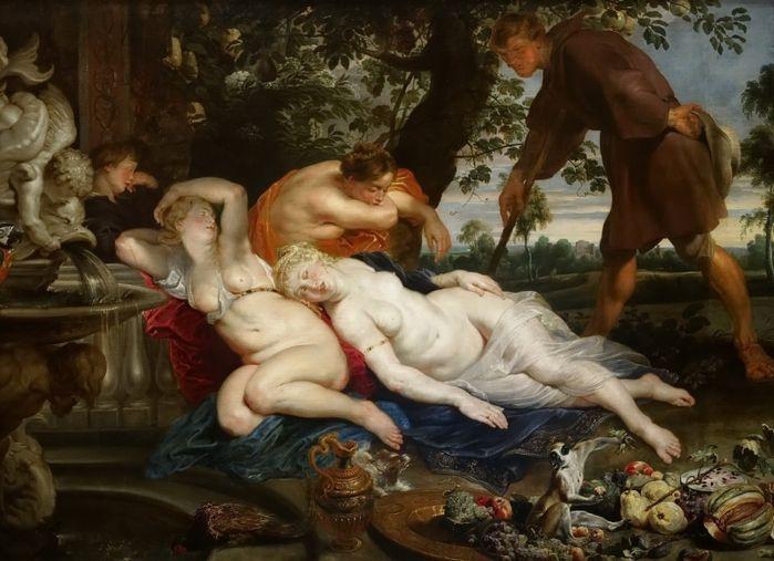 Давид Тенирс Младший (1610-1690) — Кимон и Ифигения (по Рубенсу). Подлинник находится в венском Музее истории искусств.