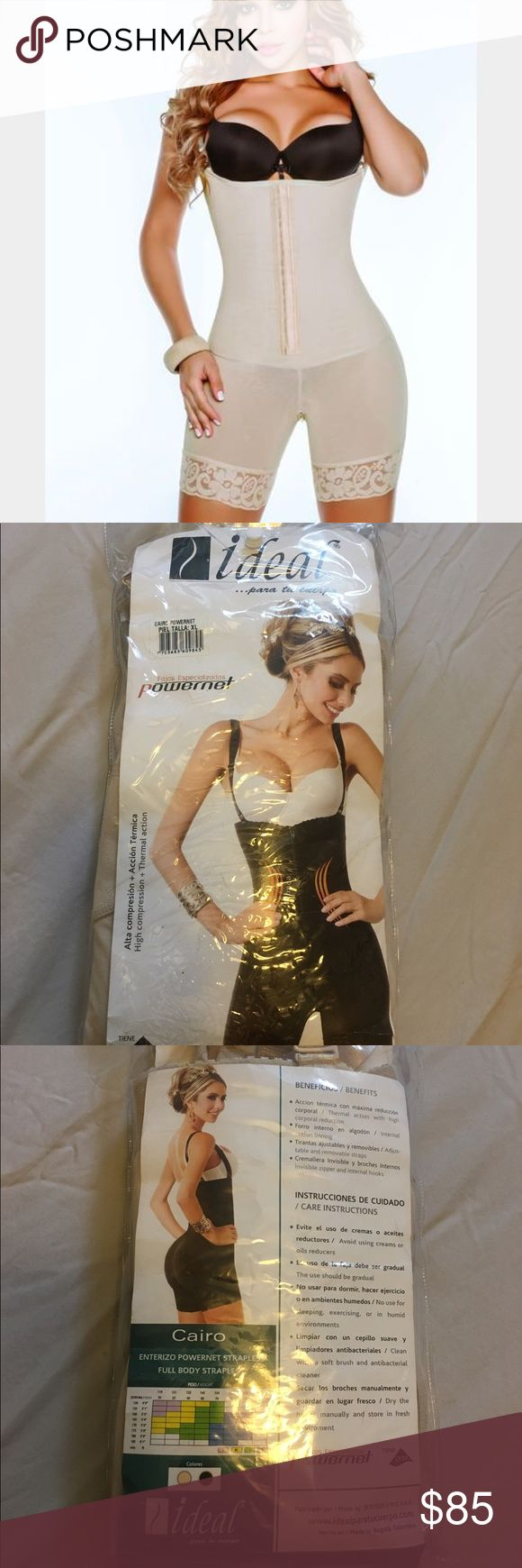 Full body strapless (faja colombiana) Full body strapless 100% anti allergic. Cairo powernet, high compression and thermal action.  Size: XL ideal Intimates & Sleepwear Shapewear
