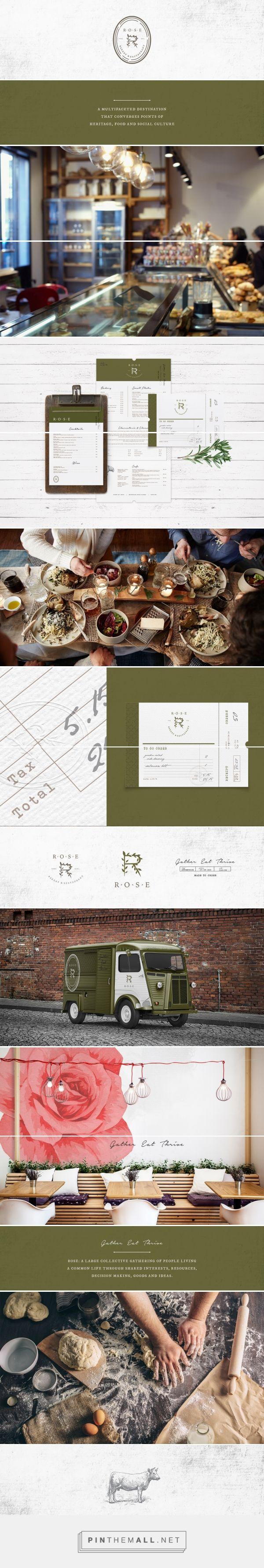 Restaurant designs restaurant logo creator restaurant logo maker - Rose Restaurant Branding And Menu Design By Farm Design