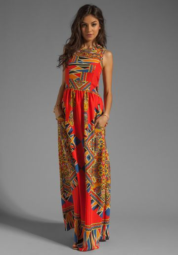 I need another summer wedding to go to. LOVERS + FRIENDS Kitty Cat Dress in Scarf at Revolve Clothing - Free Shipping!