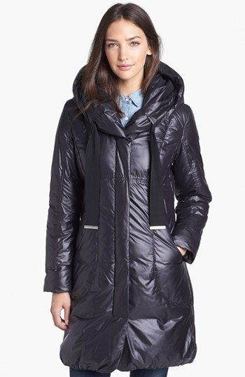 Elie Tahari 'Lisa' Hooded Down Coat available at #Nordstrom