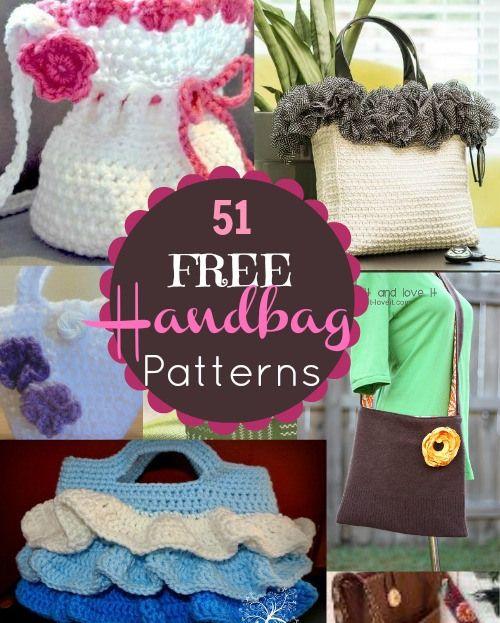 51 Free Handbag and Purse Patterns and Tutorials.  Beginner to advanced! Something for everyone.  sewlicioushomedecor.com #purse