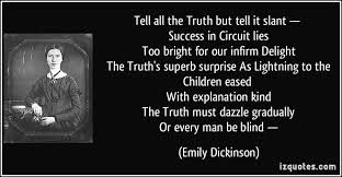 emily dickinson truth