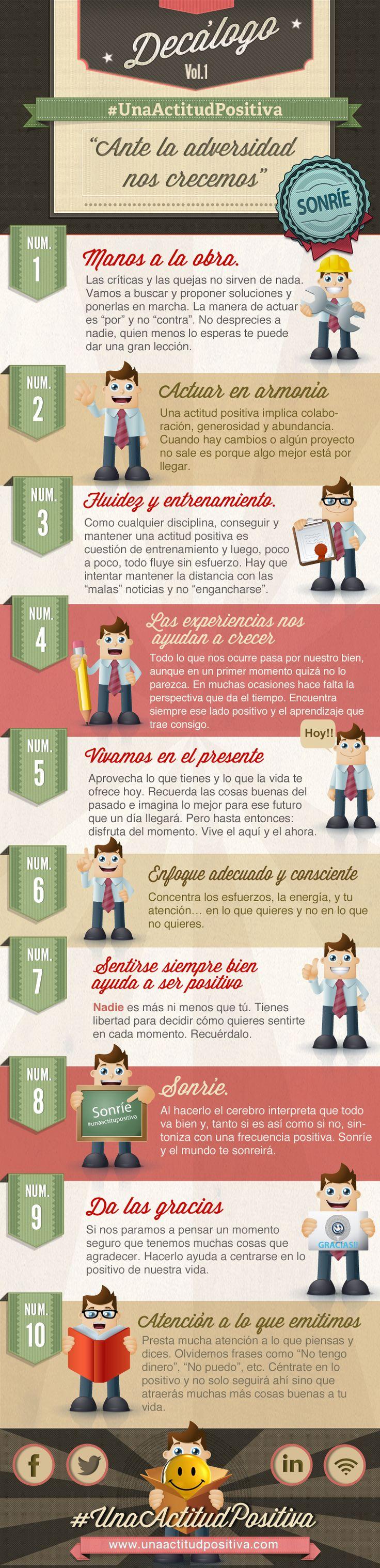 Decálogo para #unaactitudpositiva ;-)