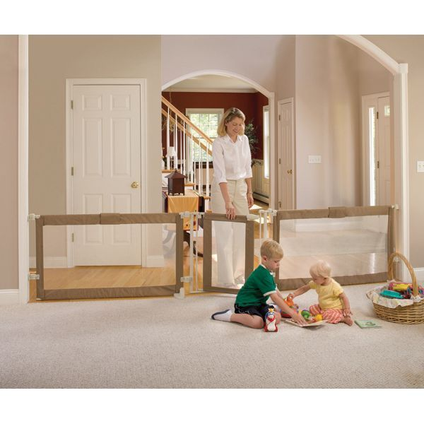 Extra long baby gate. The only one I found that extends to 12 feet. I couldn't live without this!