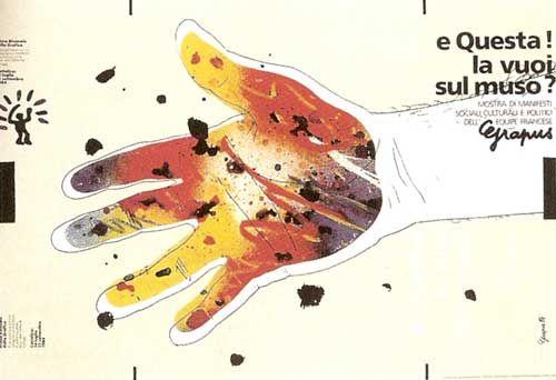 Equipe Grapus, 1984 manifesto per una mostra di manifesti dell' Equipe Grapus tenutasi a Cattolica.