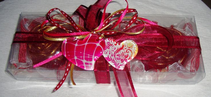Mother of the Bride Gift - Burgundy Fuchsia Gift Set for Women, Luxury Scented Soaps, Handmade Glass Double Heart, Valentine Gift for Her by JoannasScentedSoaps on Etsy https://www.etsy.com/listing/258002855/mother-of-the-bride-gift-burgundy