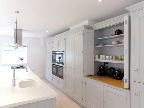 Love the colours- and cupboard hiding electrical appliances  Independent Kitchen Design Consultancy. | PROJECTS