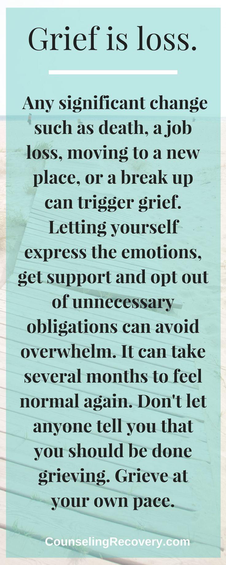 Grieving a relationship break up