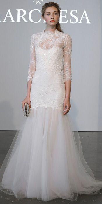 Marchesa Spring 2015 Bridal Collection - Marchesa from #InStyle  Art Deco- perfect for a DC fall wedding. Could also see NYC