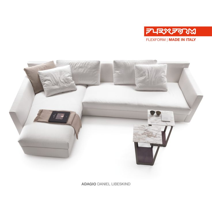 #FLEXFORM ADAGIO sectional sofa #design Daniel Libeskind