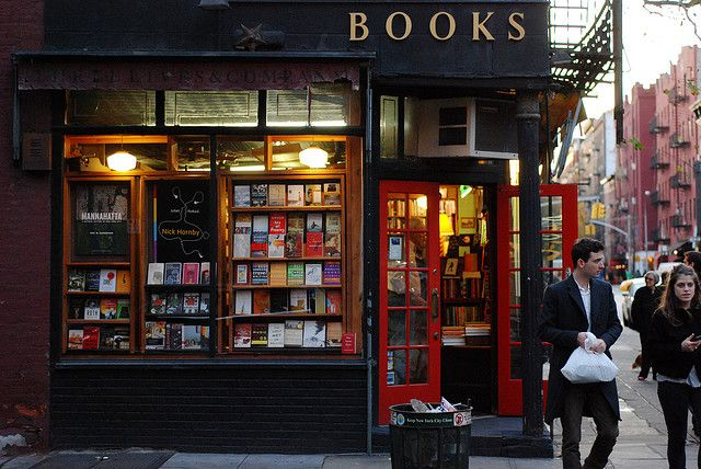 Three Lives Bookstore at W. 10th and Waverly in Greenwich Village. Pulitzer Prize winner Michael Cunningham describes it as the most civilized place on earth. Very small, very personal, the kind of bookstore that hardly exists anymore. A treasure!