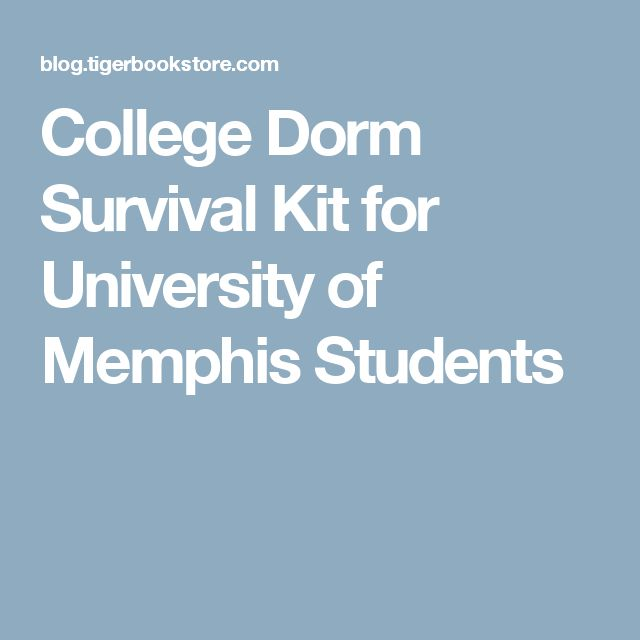College Dorm Survival Kit for University of Memphis Students