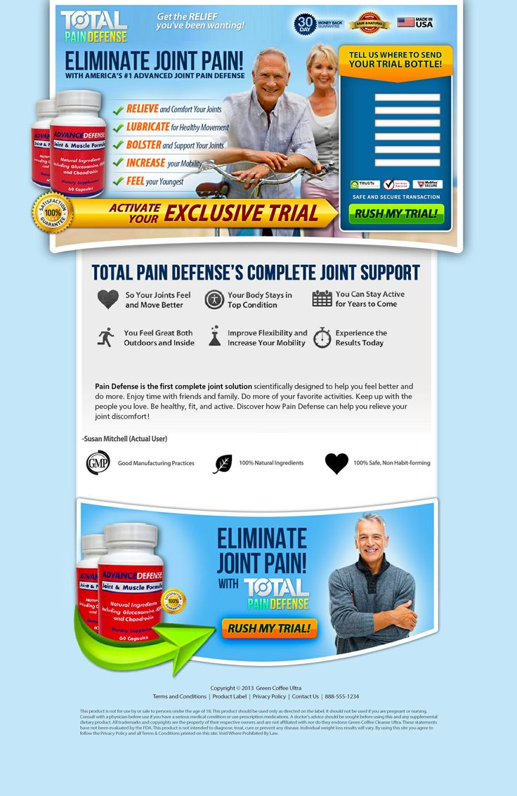 TOTAL Pain Defense is an affordable, multi-tasking system that aims to eliminate the need to buy multiple products which can be expensive,space-consuming,  and, frankly, annoying. The ideas were translated into a high conversion page. Property of Green Coffee Cleanse ULTRA®