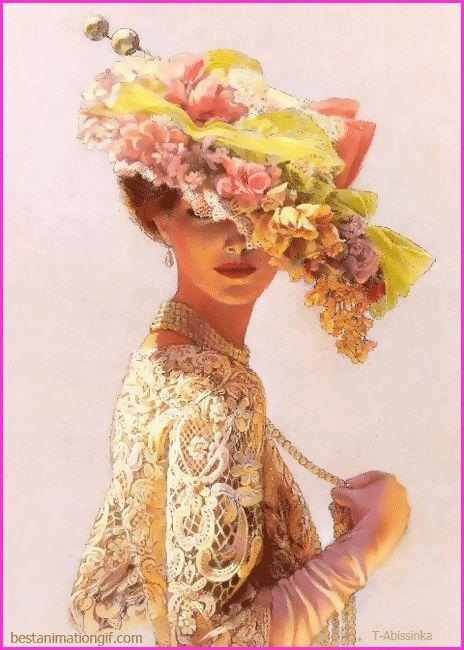 Дама в шляпке и с жемчугом★RUMA★☾ ☆☆ ᶫᵒᵛᵉ ✧ ᶫᵒᵛᵉ➸ Բѳʀɛvɛʀ ..`•.¸.•´*✿*❥ ᶫᵒᵛᵉZIHOZAYO ♥➷♥