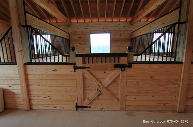 Barn Plans -10 Stall Horse Barn - Design Floor Plan