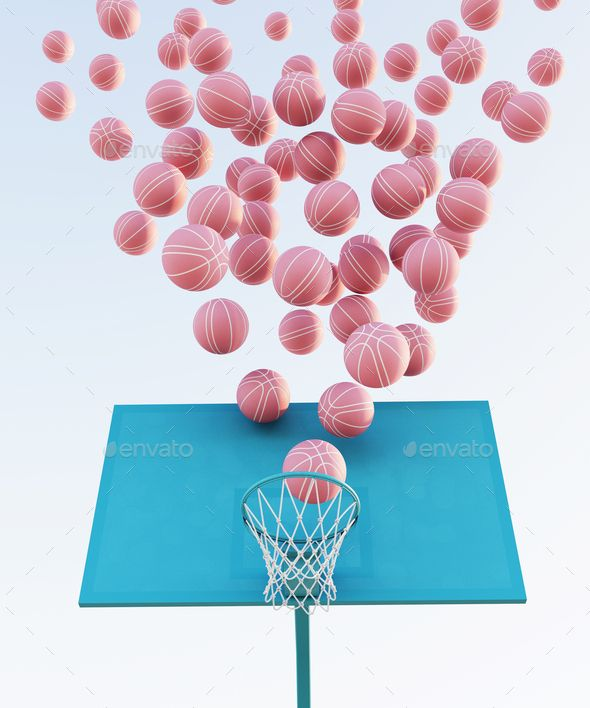 Abstract Pastel Pink Blue Color Basketball Court With Hoop And Ball Minimalistic Composition 3d In 2021 Pink Basketball Aesthetic Iphone Wallpaper Cute Wallpapers Abstract basketball iphone wallpaper