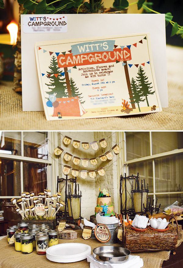 Exquisite Woodsy Kids Campground Party // Hostess with the Mostess®