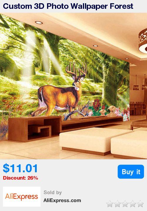 Custom 3D Photo Wallpaper Forest Tree Elk Deer Large Living Room Background Wall Decor Painting Non-woven Straw Wallpaper Murals * Pub Date: 02:15 Jul 3 2017
