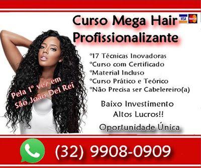Curso de Mega hair Implante de cabelos: curso Mega Hair em Minas Gerais SÃO JOÃO DEL REI
