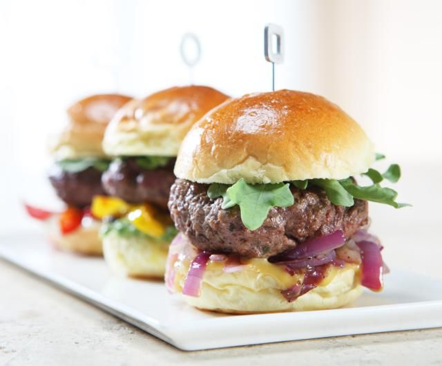Five Slider Sandwiches for a Football Viewing Party. Taste Touchdowns!: Big Taste from Small Bites