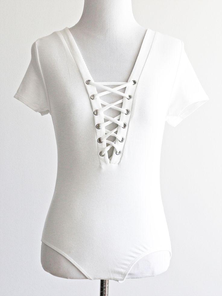 Tautmun - SELEN LACE UP BODYSUIT - IVORY, $16.99 (http://www.tautmun.com/selen-lace-up-bodysuit-ivory/)