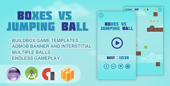 Download Boxes Vs Jumping Ball - Android Studio + Eclipse + Buildbox Template Nulled Latest Version