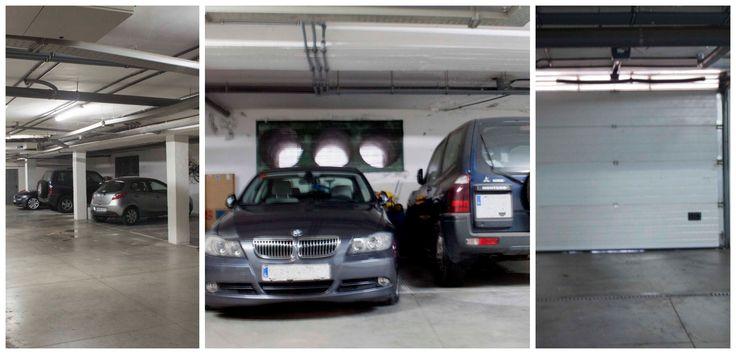 Garaje para dos vehículos con cuarto trastero, con acceso directo a la vivienda.
