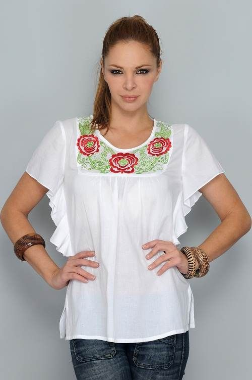 18f2ea2bea3f blusas estampadas de moda   remeras   Blusas casuales, Blusas y ...