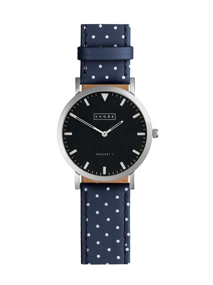 Whitstable Watch With Ocean Blue Polka Strap