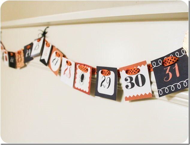 Halloween Countdown! #americancrafts #pebbles #halloweendecor