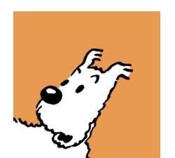 Milou or snowy!  Aline for Tintin!