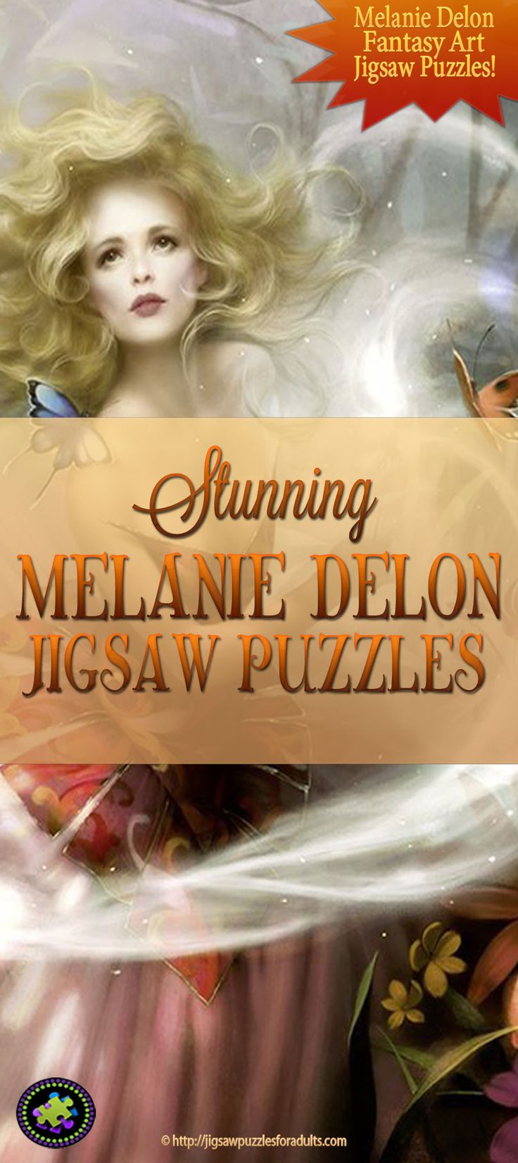 If you like fantasy and gothic images you'll love these Heye jigsaw puzzles from the artwork of Melanie Delon.