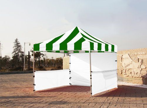 """Eurmax Premium Ez up Canopy Booth Bonus Awning and 4weight Bag(10x10 Feet, Green/white) by Eurmax. $449.95. Wheeled bag with 4.7"""" wheels,The Best design and easy to handle even on rough ground. Frame:Heavy duty Alumix Construction(Frame weight:60.6LBS).Powder Coated,Full Truss Design,Leg size:1.77 inch Hexagon ,Adjustable Height,No Tools Necessary for Setup.. Eurmax premium Canopy booth Includes:Canopy Top, Canopy Frame,back wall,Two(2)1/2walls, Rail bar,Awning,Four(4)Weight bag..."""