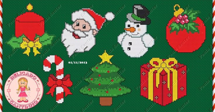 Olá!  Hoje vim trazer para vocês estes gráficos de semaninha de natal que fiz.  Fiz com muito carinho, espero que gostem e façam lindos bord...