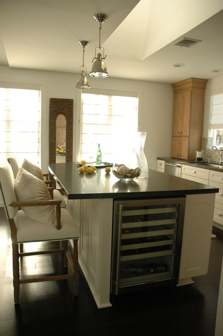 9 Best Kitchen Island Remodel Wine Fridge Install Images
