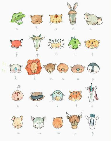 Animals All Around - adorable animal alphabet