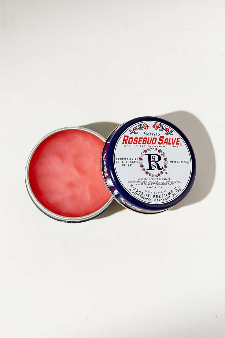 Smith's Rosebud Salve - This is like the duct tape of my beauty products. It can be used for everything.