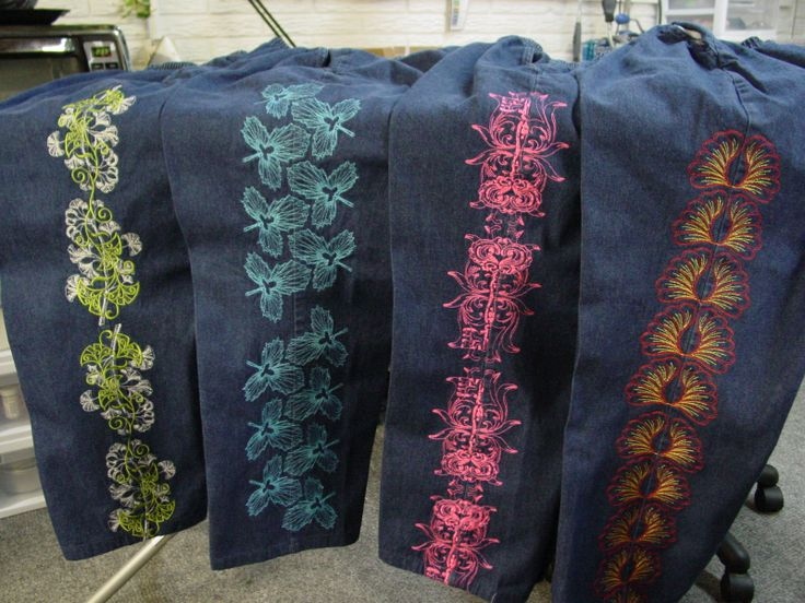 Embroidery jeans designs makaroka 32 best machine embroidery creations images on pinterest ccuart Gallery