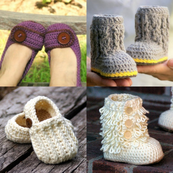 Awesome crochet patterns!    love the boots
