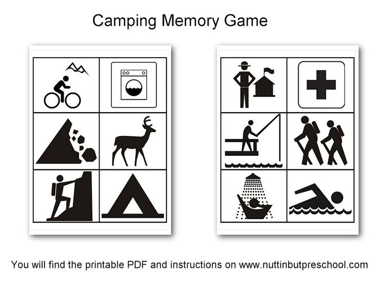 Memory Game Camping
