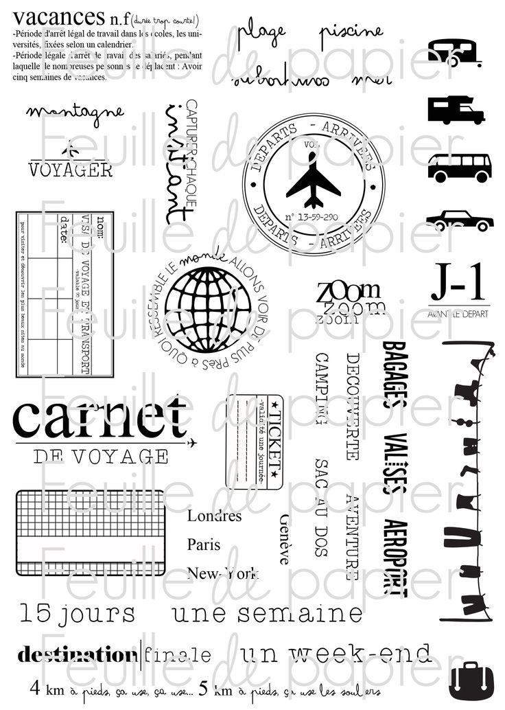 MATERIEL > Tampons > Marie-Laure Bollinger pour Feuille de papier > Collections N° 7 Cap ailleurs - Feuille de papier - Kits en ligne