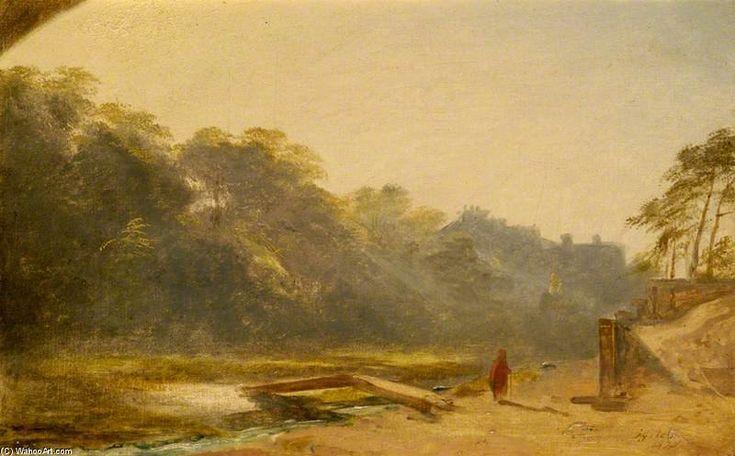 Croquis d un chiffre Marcher par un ruisseau de James William Giles (1801-1870, United Kingdom)