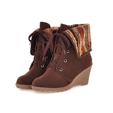 Cunha Sapatinho salto de flocagem Mulheres / Ankle Boots (mais cores) – BRL R$ 60,97