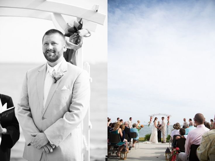 Groom's first look | photos by http://www.magnoliaphotographync.com | see more http://www.thebridelink.com/blog/2013/07/29/southern-beachside-wedding-in-south-carolina/