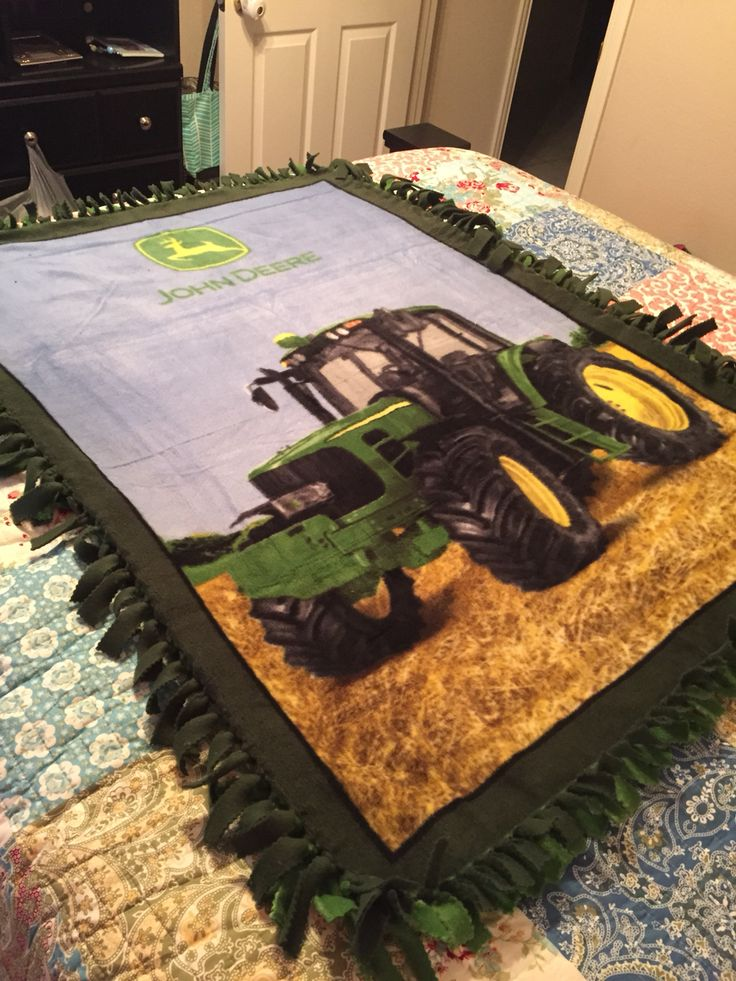 John Deere Fleece Blanket 60x80