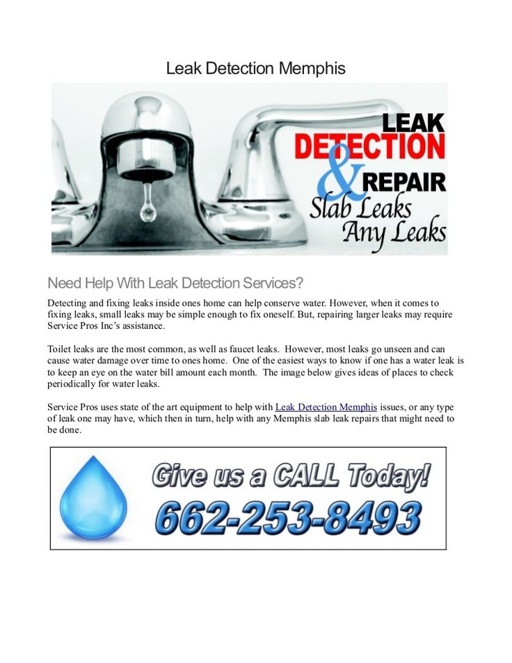 If you are in need of a Leak Detection Memphis service, Plumbing Repair Memphis TN can assist with state of the art equipment to solving your leak problems.